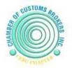Chamber of customs brokers inc